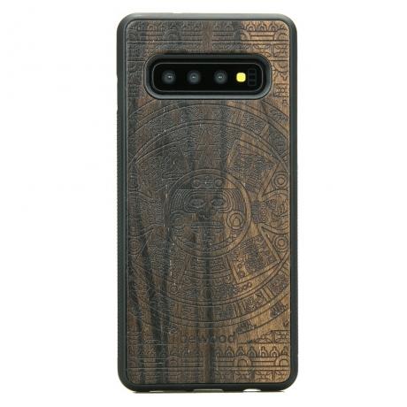 Drewniane Etui Samsung Galaxy S10+ KALENDARZ AZTECKI ZIRICOTTE