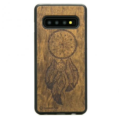 Drewniane Etui Samsung Galaxy S10+ ŁAPACZ SNÓW IMBUIA