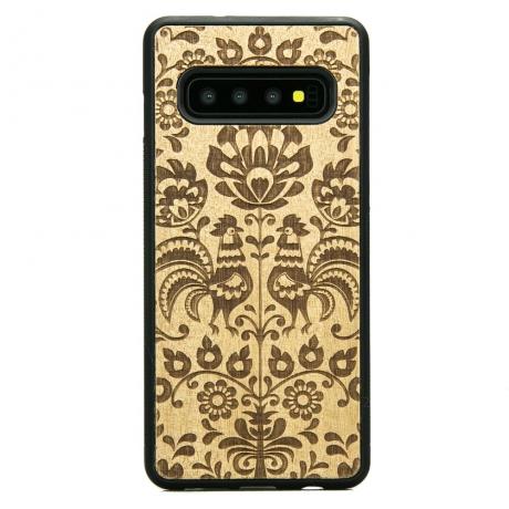 Drewniane Etui Samsung Galaxy S10+ POLSKI FOLK ANIEGRE