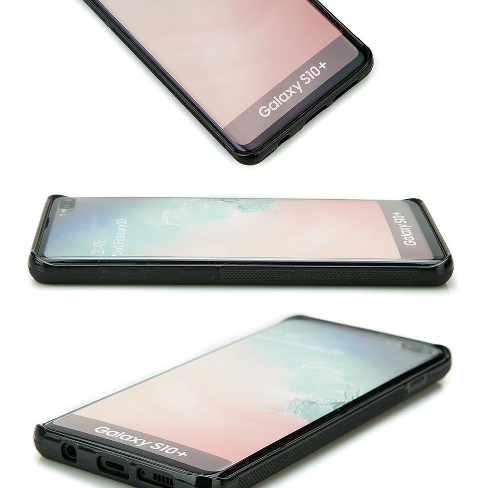 Drewniane Etui Samsung Galaxy S10+ RÓŻA WIATRÓW MERBAU BIELONA