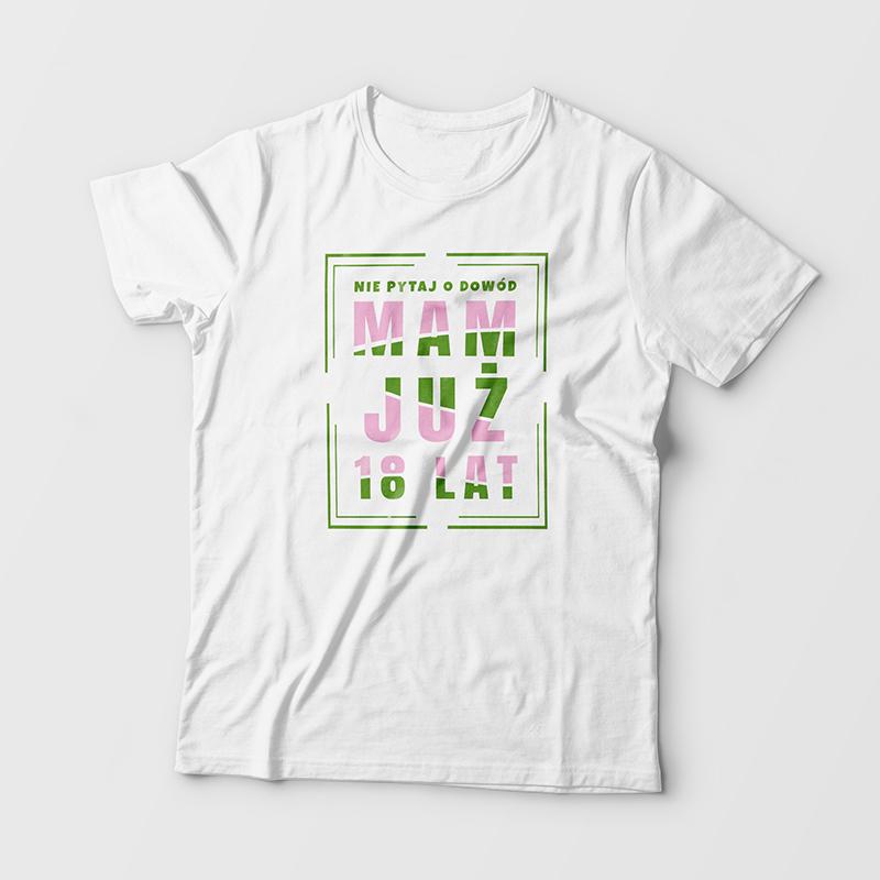 Koszulka dla dziewczyny na 18 urodziny