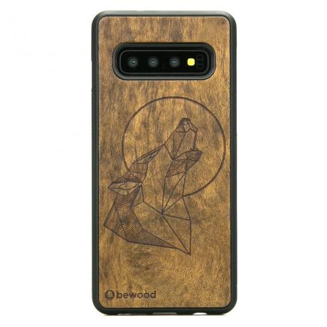 Drewniane Etui Samsung Galaxy S10+ WILK IMBUIA