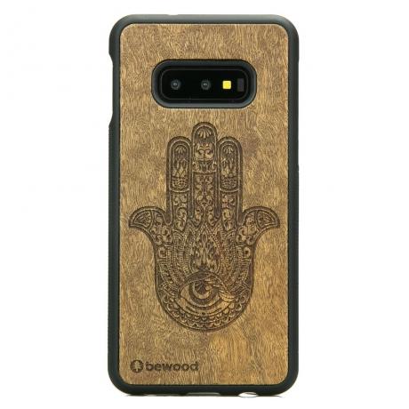 Drewniane Etui Samsung Galaxy S10e HAMSA IMBUIA