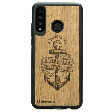 Drewniane Etui Huawei P30 Lite KOTWICA DĄB