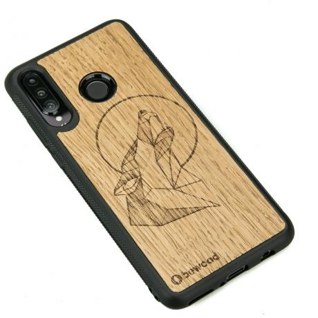 Drewniane Etui Huawei P30 Lite WILK DĄB