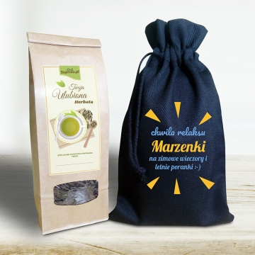 Herbata personalizowana dla niej w woreczku (z dedykacją)