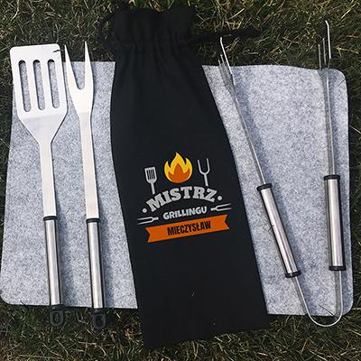 Zestaw sztućców do grilla (personalizowany)