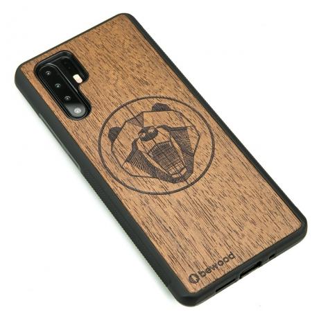Drewniane Etui Huawei P30 Pro NIEDŹWIEDŹ MERBAU