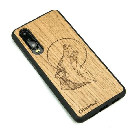 Drewniane Etui Huawei P30 WILK DĄB