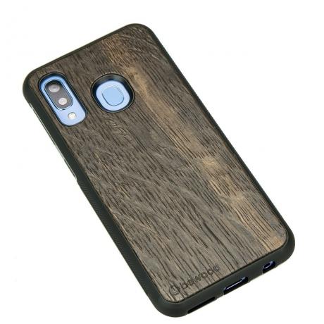 Drewniane Etui Samsung Galaxy A40 DĄB WĘDZONY