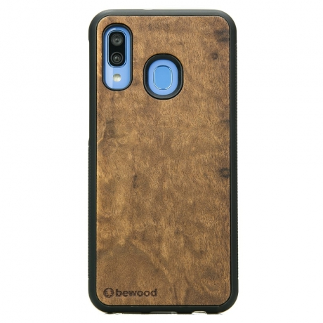 Drewniane Etui Samsung Galaxy A40 IMBUIA
