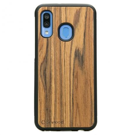 Drewniane Etui Samsung Galaxy A40 OLIWKA