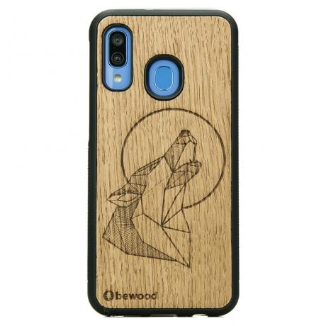 Drewniane Etui Samsung Galaxy A40 WILK DĄB