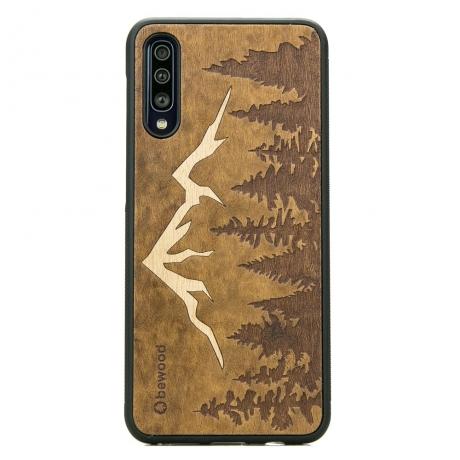 Drewniane Etui Samsung Galaxy A50 GÓRY IMBUIA