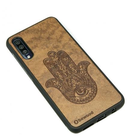 Drewniane Etui Samsung Galaxy A50 HAMSA IMBUIA