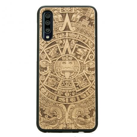 Drewniane Etui Samsung Galaxy A50 KALENDARZ AZTECKI ANIEGRE