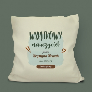 Poduszka dla nauczyciela z nadrukiem
