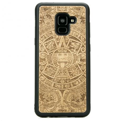 Drewniane Etui Samsung Galaxy A8 2018 KALENDARZ AZTECKI ANIEGRE