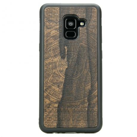 Drewniane Etui Samsung Galaxy A8 2018 KALENDARZ AZTECKI ZIRICOTTE