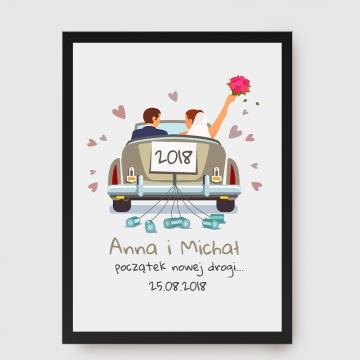 Plakat personalizowany na ślub