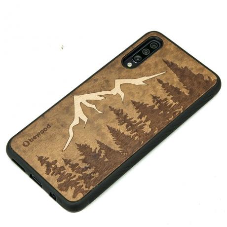 Drewniane Etui Samsung Galaxy A70 GÓRY IMBUIA