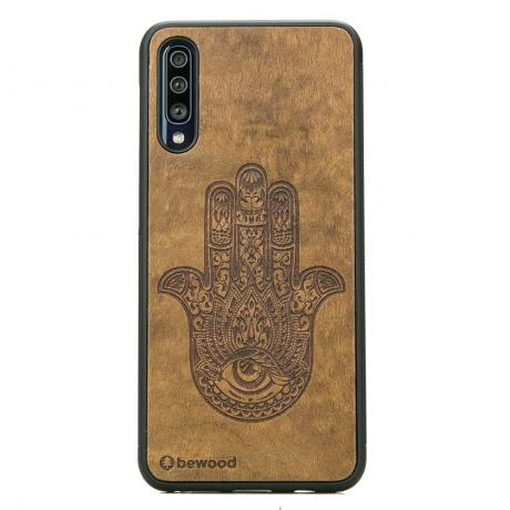 Drewniane Etui Samsung Galaxy A70 HAMSA IMBUIA
