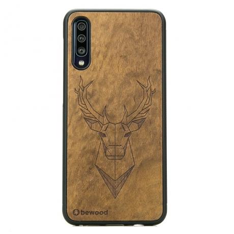 Drewniane Etui Samsung Galaxy A70 JELEŃ IMBUIA