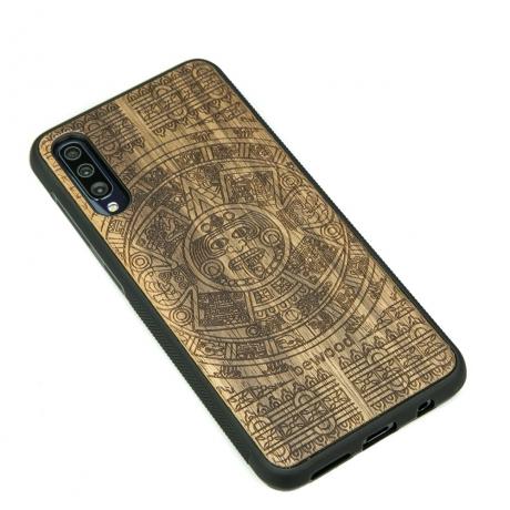 Drewniane Etui Samsung Galaxy A70 KALENDARZ AZTECKI LIMBA
