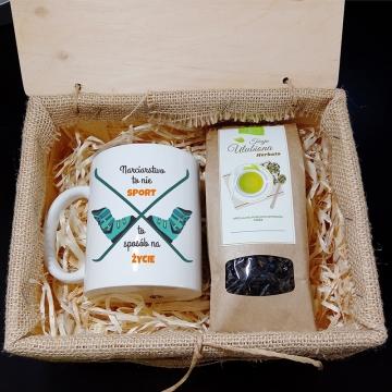 Zestaw herbaciany dla narciarza