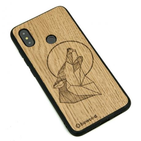 Drewniane Etui Xiaomi Mi 8 WILK DĄB