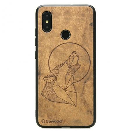 Drewniane Etui Xiaomi Mi 8 WILK IMBUIA