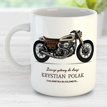 Kubek z napisem dla fana motorów (personalizowany)