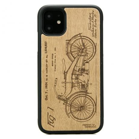 Drewniane Etui iPhone 11 HARLEY PATENT ANIEGRE