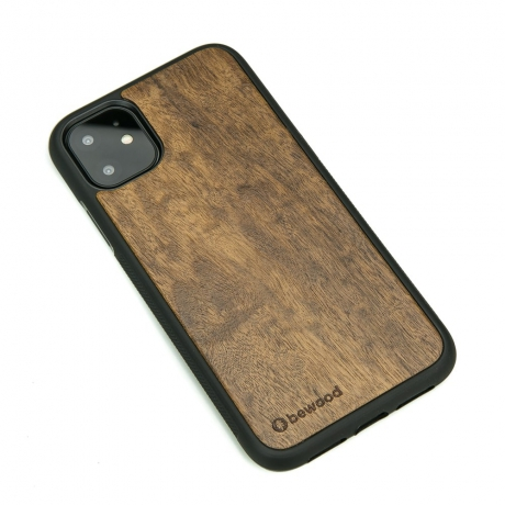 Drewniane Etui iPhone 11 IMBUIA
