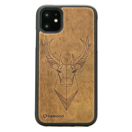 Drewniane Etui iPhone 11 JELEŃ IMBUIA