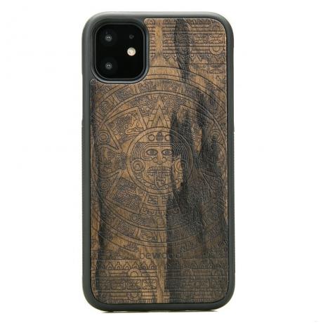 Drewniane Etui iPhone 11 KALENDARZ AZTECKI ZIRICOTTE