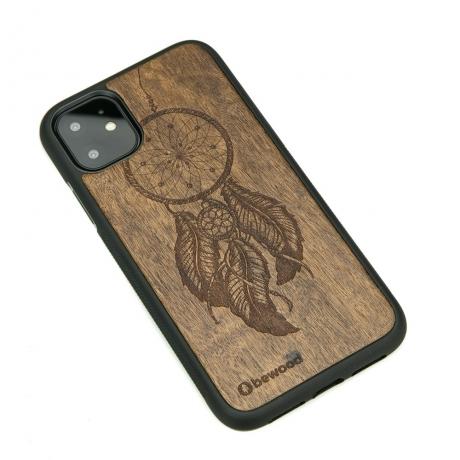 Drewniane Etui iPhone 11 ŁAPACZ SNÓW IMBUIA