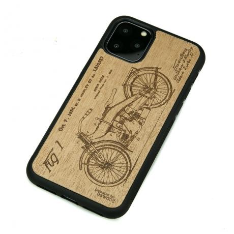 Drewniane Etui iPhone 11 PRO HARLEY PATENT ANIEGRE