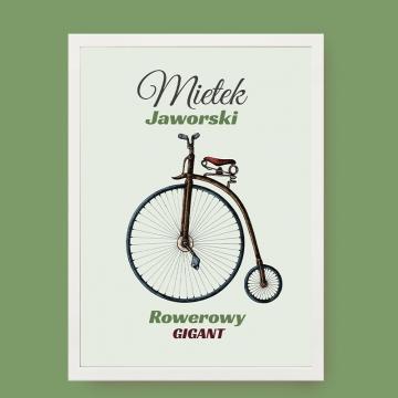 Plakat rowerzysty w ramce na ścianę