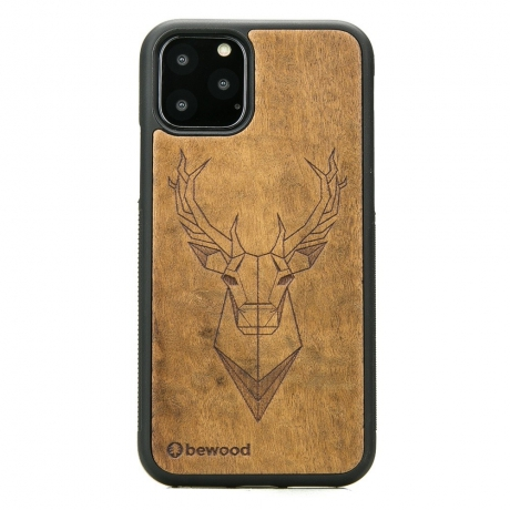 Drewniane Etui iPhone 11 PRO JELEŃ IMBUIA