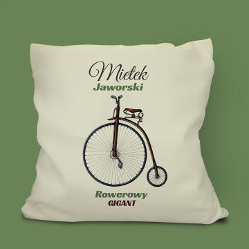 Poduszka z motywem roweru (personalizowana)