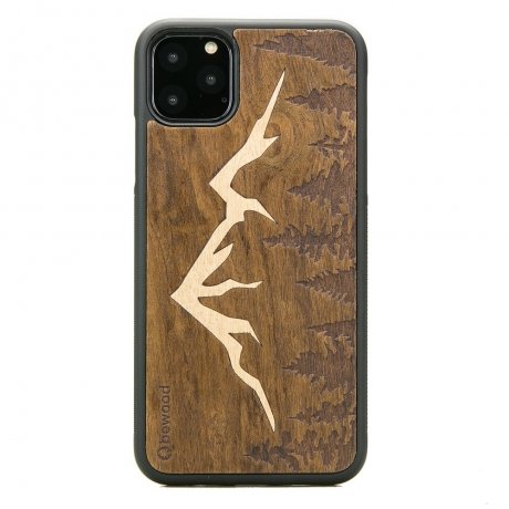 Drewniane Etui iPhone 11 PRO MAX GÓRY IMBUIA