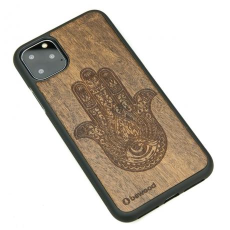 Drewniane Etui iPhone 11 PRO MAX HAMSA IMBUIA