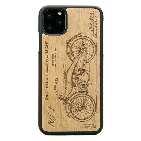 Drewniane Etui iPhone 11 PRO MAX HARLEY PATENT ANIEGRE