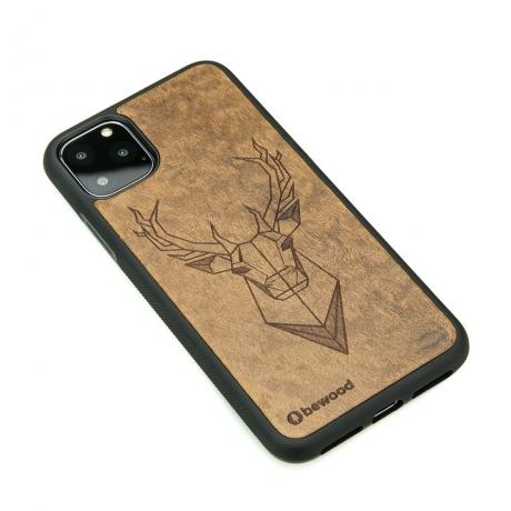 Drewniane Etui iPhone 11 PRO MAX JELEŃ IMBUIA