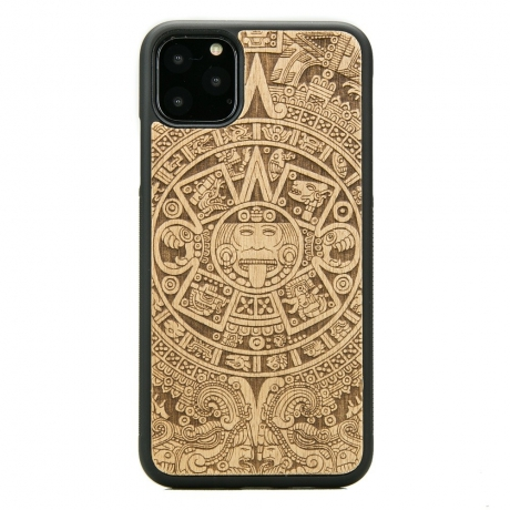 Drewniane Etui iPhone 11 PRO MAX KALENDARZ AZTECKI ANIEGRE