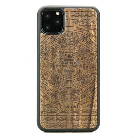 Drewniane Etui iPhone 11 PRO MAX KALENDARZ AZTECKI LIMBA