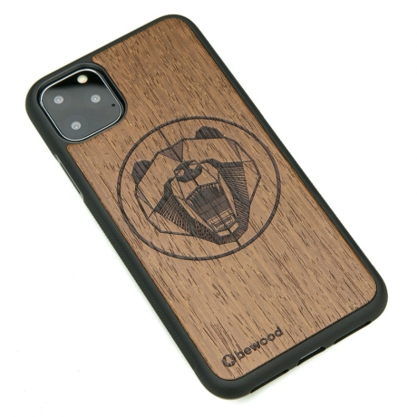 Drewniane Etui iPhone 11 PRO MAX NIEDŹWIEDŹ MERBAU