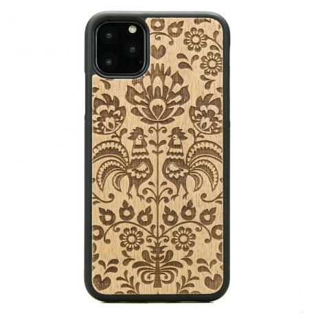 Drewniane Etui iPhone 11 PRO MAX POLSKI FOLK ANIEGRE