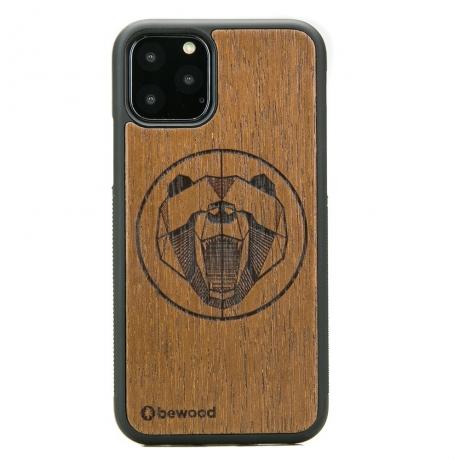 Drewniane Etui iPhone 11 PRO NIEDŹWIEDŹ MERBAU